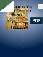 derecho romano y sus clasificaciones