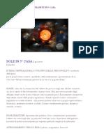 I PIANETI IN 5° CASA - Le basi astrologiche