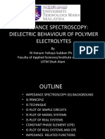 IMPEDANCE SPECTROSCOPY DIELECTRIC BEHAVIOUR OF POLYMER ELECTROLYTES_3452441_corr.ppt