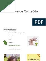 Análise de ConteúdoAndreiaMilitao