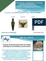 Tema 1.  Aspectos Históricos de la Metalurgia