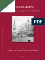 (Islamic History and Civilization) Umar F.  Abd-Allah - Malik and Medina_ Islamic Legal Reasoning in the Formative Period-BRILL (2013).pdf