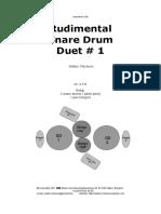 Rudimental Snare Duet