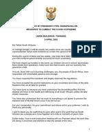 Pres. Cyril Ramaphosa se volledige toespraak
