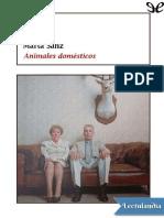 Animales de compania - Marta Sanz