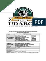 PROYECTO FINAL DE FLUIDOS DE PERFORACION Y SISTEMA DE PERFORACION DE SOLIDOS