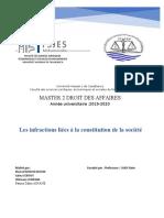 00.Exposé n°6 - Infractions liées à la constitution de la société