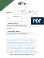 Formato Plan de Trabajo Postulaciones SERCOTEC