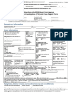 Cdc Covid-19 Report Form