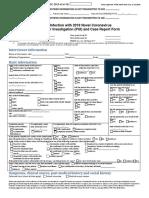 Cdc Covid-19 Report Form