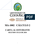 CARTA AL ESTUDIANTE SEGUNDO CICLO 2018