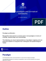 Research paradigms and conceptual frameworks