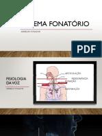 SISTEMA FONATÓRIO Aparelho Fonador Slide