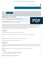 Minimum Level of Stock - Explanation, Formula, Example _ Accounting for Management