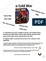 Cold War important terms and activity sheet