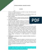 TALLER  ESTADÍSTICA INFERENCIAL  POBLACIÓN Y MUESTRA2