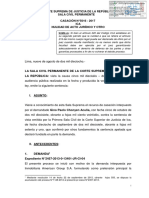 Nulidad de acto juridico - Exp. de origen 02457-2013 - American vs Chonyen - CAS. 5016-2017 ICA - F - p
