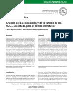 Análisis de la composición y de la función de las HDL. Aguilar & Melgarejo 2011.pdf