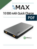 Návod - LAMAX 10000 mAh Quick Charge