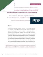 Depresión, autoestima y características de personalidad asociadas al género en estudiantes rurales de México