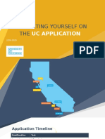 presenting yourself on the uc application