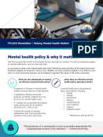 mental health policy - blog
