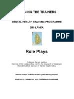 Menatl Health - Training the Trainer Programme Sri Lanka - Role Play - KAMHA.ORG