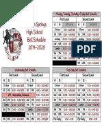 2019-2020 bell schedules  1