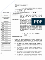 Tpo contacto cloro-agua (Res. 666-1995)
