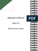 Setra 370 Operator's Manual