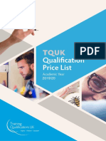 Price List 2020