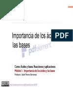 1-1 IMPORTANCIA DE LOS ACIDOS Y LAS BASES
