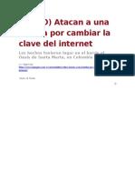 La Pagina - Atacan a Familia por Cambiar la Clave de Internet