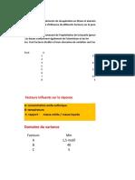 plan d'exxpérience à trois variables et deux réponses