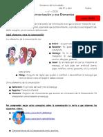 Secuencia de Actividades de Lengua La comunicacion y sus elementos