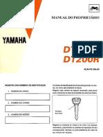 Manual do proprietário Yamaha DT200R 1996