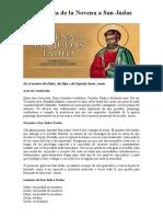 Segundo Día de la Novena a San Judas Tadeo