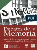 Debates de la memoria - Aportes de las organizaciones de víctimas a una politica pública de memoria
