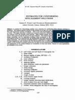 Error estimates for conforming finite element solutions