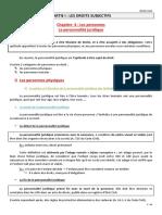 I-4 La personnalité juridique (1)
