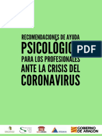 Ayuds psicologica profesionales coronavirus
