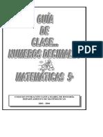 GUIA 5  (NUMEROS DECIMALES)