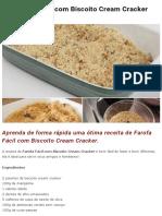 Farofa Fácil com Biscoito Cream Cracker
