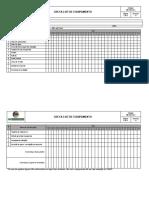 FM-PRO-001 - Check List de Equipamento ( Compressor Combustão)