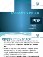 Bcg Matrix of Hul