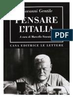 Giovanni Gentile, a c. di M. Veneziani - Pensare l'Italia-Le Lettere (2014).pdf