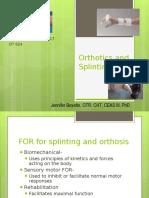 Splinting and orthotics JMB