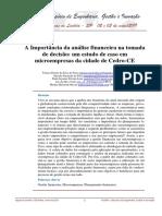 A Importância da análise financeira na tomada de decisao_Um estudo de caso em microempresas da cidade de Cedro_CE