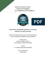 SERVICIOS DE TRANSPORTE ADAPTADO A TAXI 3RO ADMINISTRACION