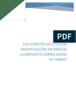Ensayo Los Comités de Ética en Investigación en México pdf